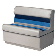 """Toonmate Deluxe Pontoon 36"""" Wide Lounge Seat with Toe Kick Base, Gray"""