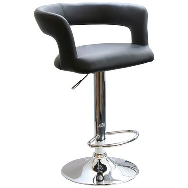 AmeriHome Modern Curvy Bar Stool, Black