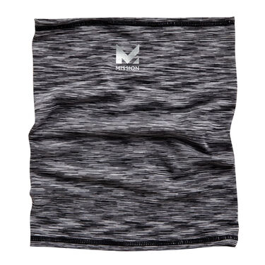 Mission Cooling Compact Neck Gaiter, Charcoal Space Dye