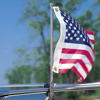 "15"" Stainless Steel Flag Pole with Rail Mount"