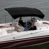 """Shademate Bimini Top Polyester Fabric and Boot Only, 4-Bow 8'L, 42""""H, 67""""-72""""W"""