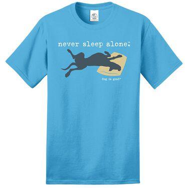Dog is Good Never Sleep Alone Unisex Tee, Medium