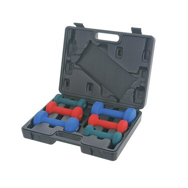 Neoprene Dumbbell Set with Carrying Case