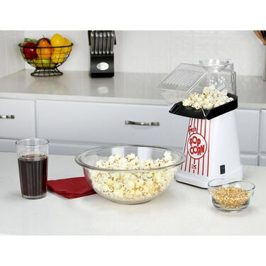 Kalorik Healthy Hot Air Popcorn Maker, White