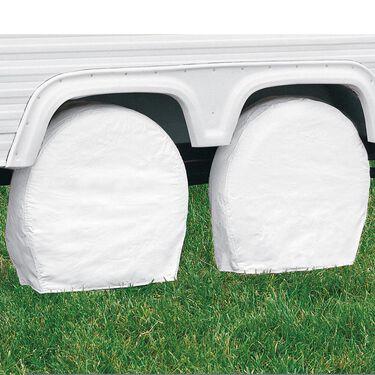 "Overdrive RV Tire Covers, Pair - Tire diameter 24""-26.5"", Snow White"