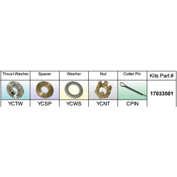 Solas 17033501 Propeller Kit for Yamaha 25-60 HP