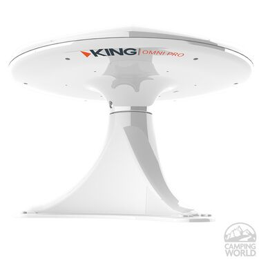 KING OmniPro HDTV Omnidirectional Over-The-Air Antenna with Mount, White