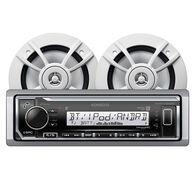 """Kenwood KMR-M322BT Bluetooth Media Receiver Package w/4 6.5"""" Two-Way Speakers"""