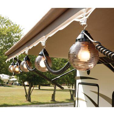 6 Bronze Globe Lights with 30' Cord