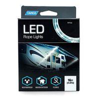 Blue & White LED Rope Lights, 16'