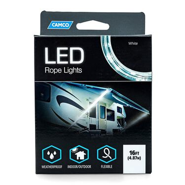 Blue & White LED Rope Lights, 16'