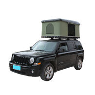 Trustmade Hard Shell Rooftop Tent, Black Shell / Green Tent