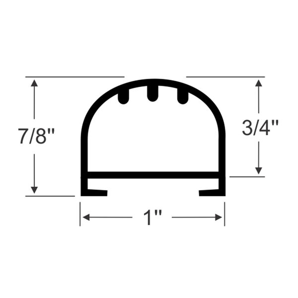 """Steele Rubber Products 7/8"""" Bulb Seal with Channel, 15' long"""