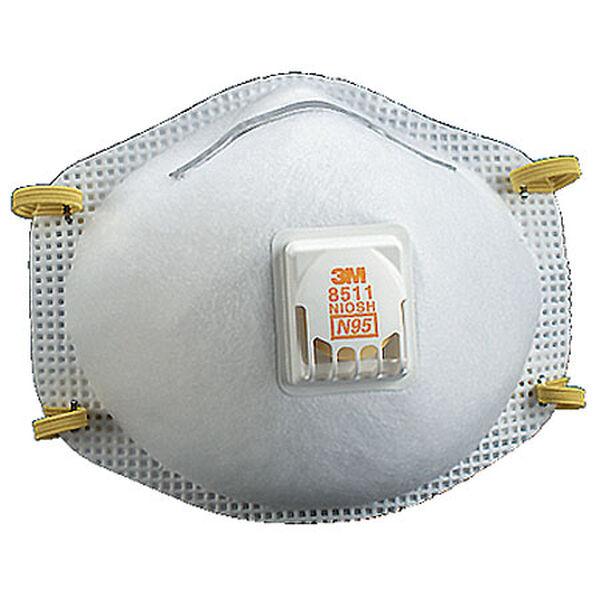 3M Respirators With Nose Clip, 10 Per Box