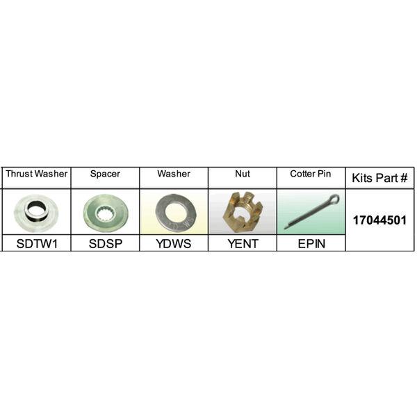Solas 17044501 Propeller Kit for Suzuki DF90-DF115 HP
