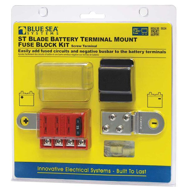 Blue Sea Systems St Blade Battery Terminal Mount Fuse Block Kit Camping World