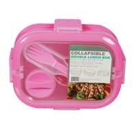 3 Compartment Collapsible Lunch Kit, Pink