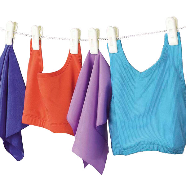Household Essentials 8' Clothesline with 6 Jumbo Clips