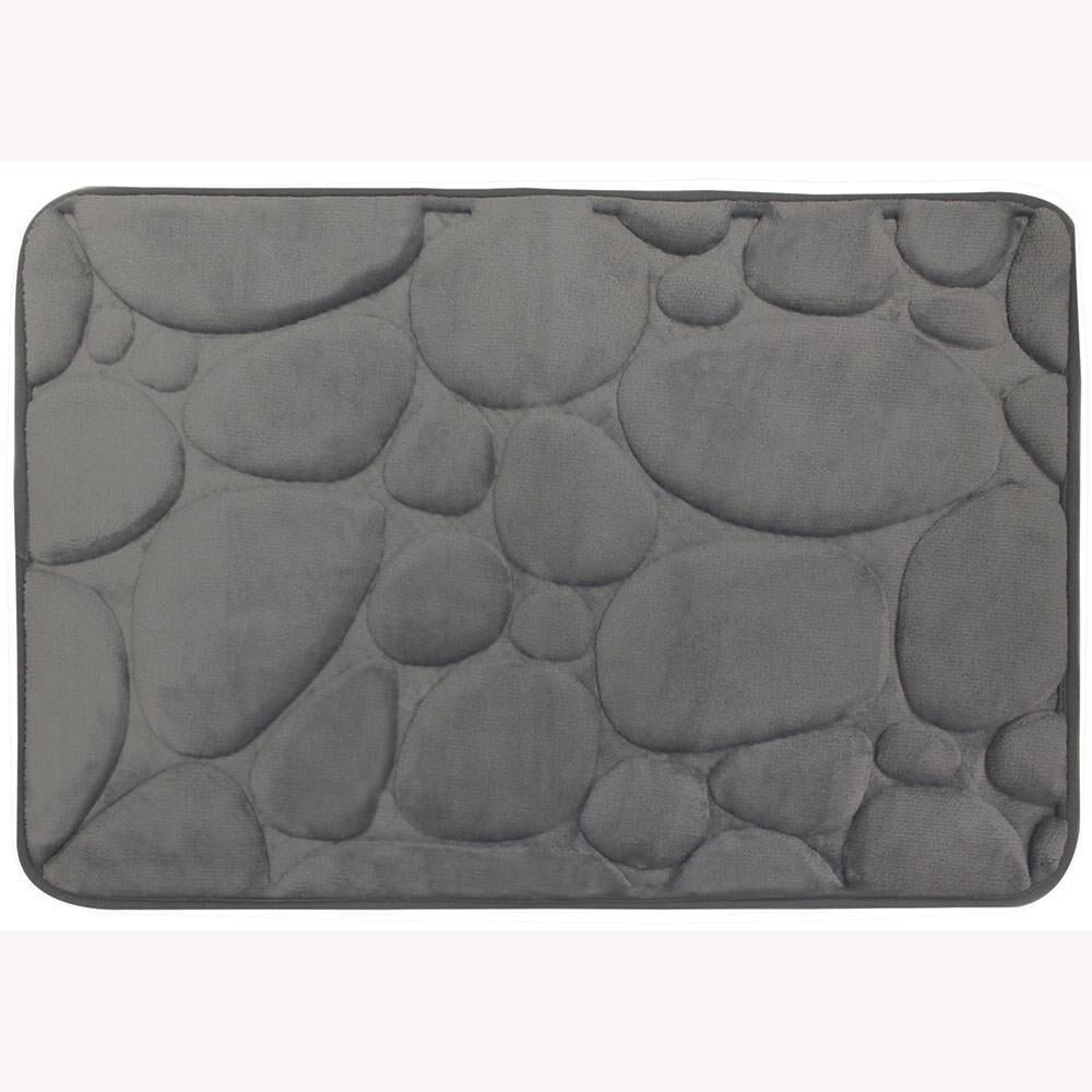 Memory Foam Bath Mat Gray Pebble Camping World