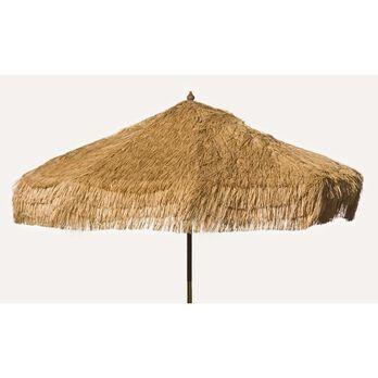 Palapa Tiki Patio Umbrella 9 ft - Whiskey Brown