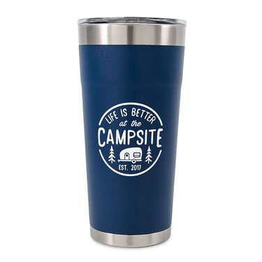 """Camco """"Life is Better at the Campsite"""" Tumbler, 20 oz., Navy"""