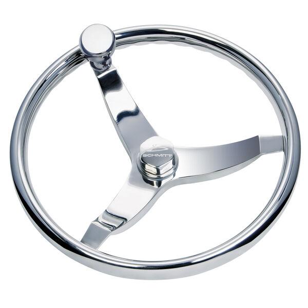 """Schmitt Vision Elite 13.5"""" Steering Wheel With Knob"""