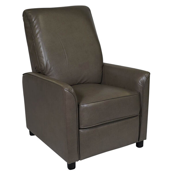 Allure Furniture Push-Back Recliner Hide-A-Bed, Stentor Pebble