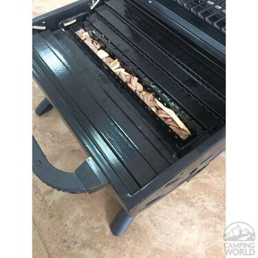 Portable Grill with Built-in Smoker