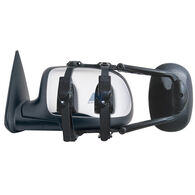Deluxe Universal Ratchet-Mount Clip-On Towing Mirror, Extra Large, Black
