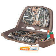 Wise Folding Boat Seat With Caddy, Camo Padded