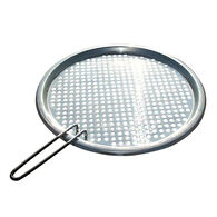 """Stainless Steel Fish/Veggie Grill Tray 13 3/4"""" dia"""