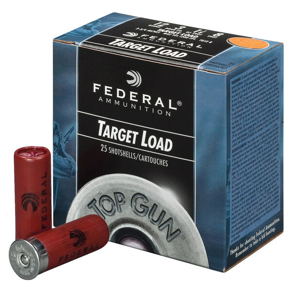 "Federal Top Gun Shotshell Target Loads, 12-ga., 2-3/4"", 1 oz., #8, 1180 fps"