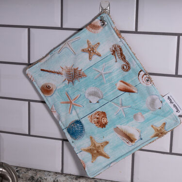Beach Life Haute Pads Multi-Purpose Kitchen/Grill Towel and Pot Holder, Set of 4