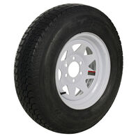 Tredit H188 225/75 x 15 Bias Trailer Tire, 6-Lug Spoke White Rim