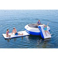 Aquaglide Malibu Aquapark With Bouncer, Slide, And Walkway