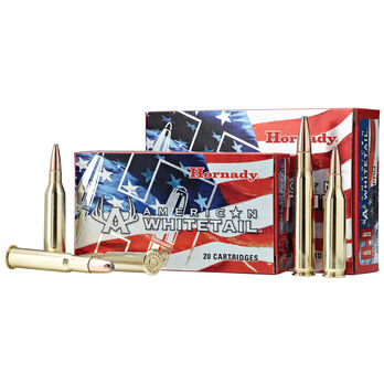 Hornady American Whitetail Rifle Ammo, 7mm-08 Rem, 139-gr., SP InterLock