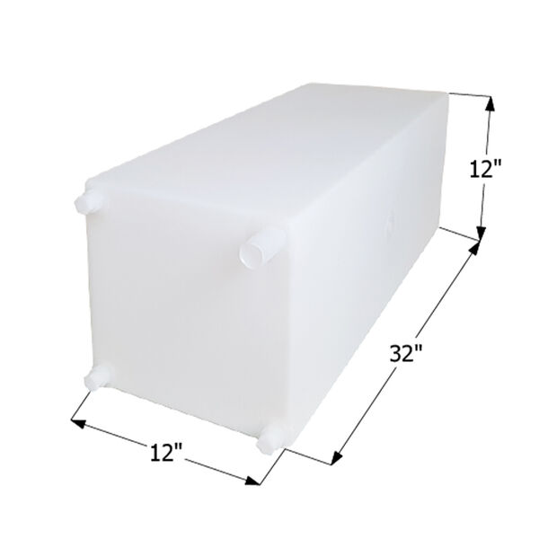 """ICON Technologies WT2472 Freshwater Tank with 1/2"""" Fittings, 20 Gallons"""