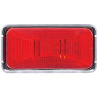 Optronics Trailer Marker/Clearance Light With Chrome Base, Red