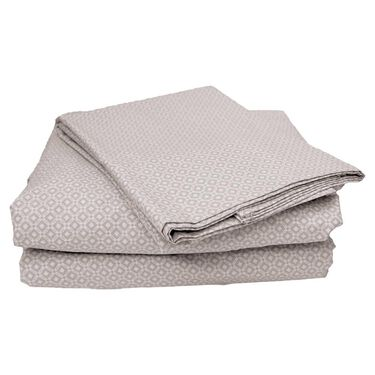 100% Cotton Sheets, King, Gray