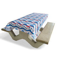 "Star Spangled Tablecloth, 82"" x 54"""