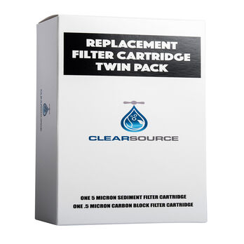 Clearsource Replacement Water Filter Cartridge Twin Pack