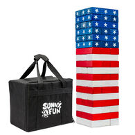 Sunny & Fun Large American Flag Toppling Tower with Carrying Case