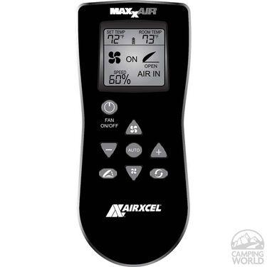 MaxxFan Deluxe Remote Control RV Ventilator System, White Lid