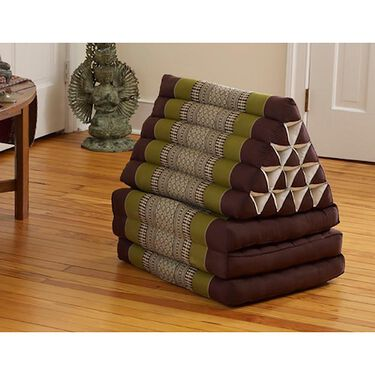 Triangle Lounger Chair, Brown/Burgundy
