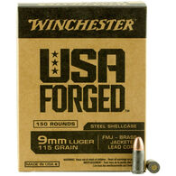 Winchester USA Forged 9mm Luger 115-Grain Handgun Ammunition
