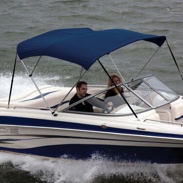 Shademate Sunbrella Stainless 3-Bow Bimini Top 6'L x 46''H 85''-90'' Wide