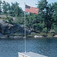 Dock Edge Flexi-Flag 21' Flag Pole With American Flag