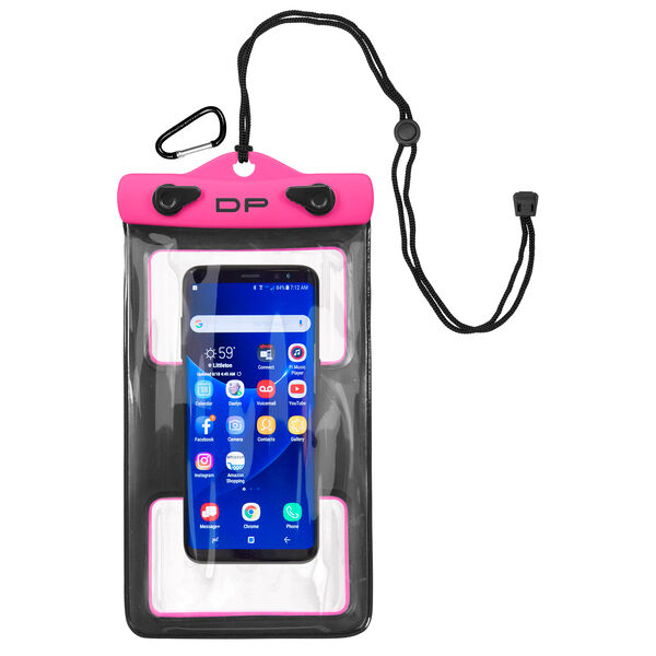 "Dry Pak Floating Waterproof Cell Phone Case, 5"" x 8"", Hot Pink"