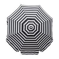 Italian 7.5 ft Patio Umbrella Acrylic Stripes Black and White