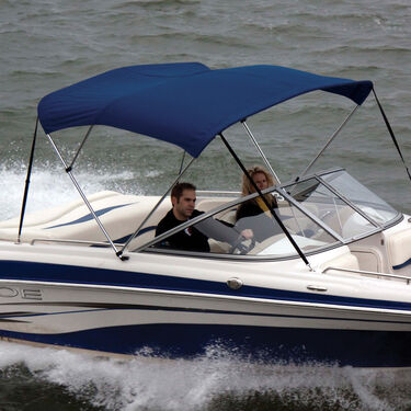 Shademate Polyester Stainless 3-Bow Bimini Top 6'L x 46''H 91''-96'' Wide